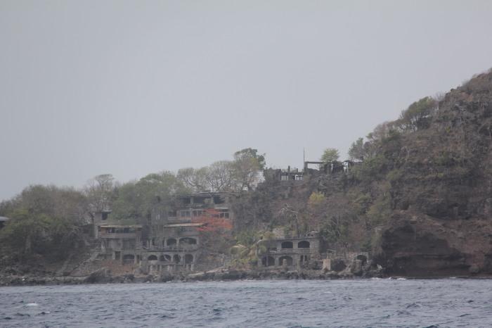 Remains of a resort development