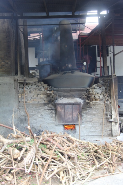 The wood fired still