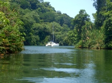 Anchored on the Rio Chagres