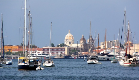 A view of Old Cartagena from the anchorage